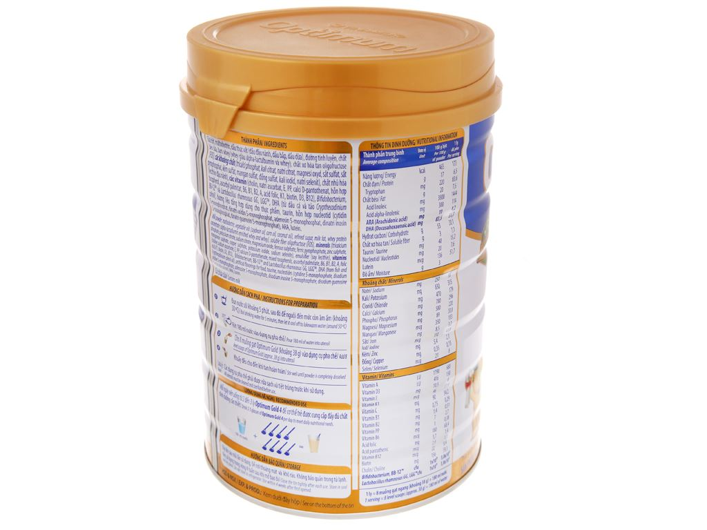 Sữa bột Optimum Gold 4 lon 900g (2 - 6 tuổi) 4