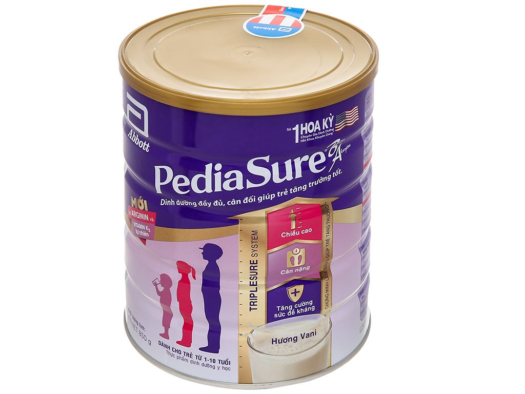 Sữa bột Abbott PediaSure PediaSure BA hương vani lon 850g (1 - 10 tuổi) 1