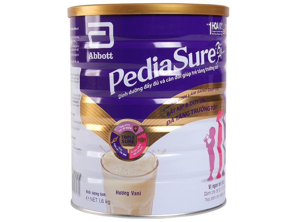 Sữa bột Abbott PediaSure PediaSure BA hương vani lon 1.6kg (1 - 10 tuổi) 1