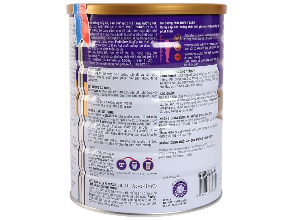 Sữa bột Abbott PediaSure PediaSure BA hương vani lon 1.6kg (1 - 10 tuổi) 2