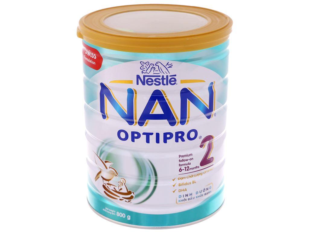 Sữa bột Nestlé NAN Optipro 2 lon 800g (6 - 12 tháng) 2
