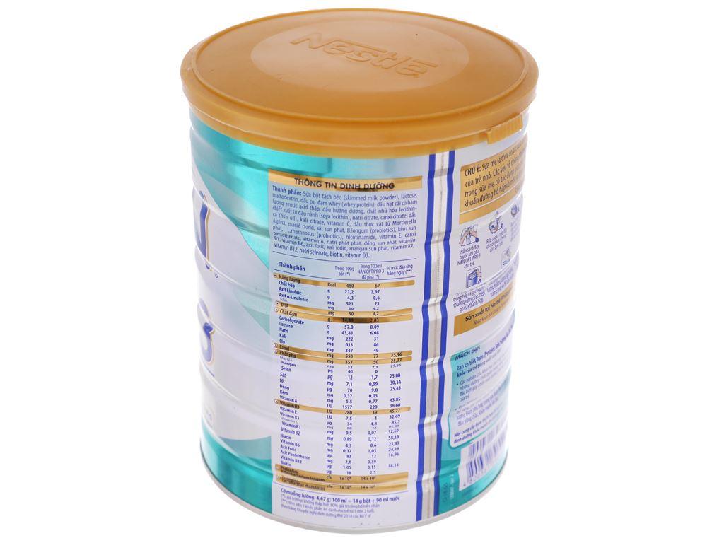 Sữa bột Nestlé NAN Optipro 3 lon 900g (1 - 2 tuổi) 4