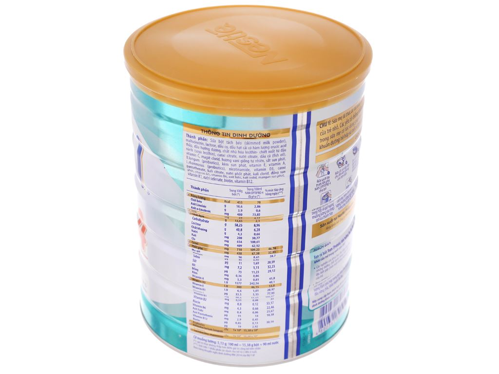 Sữa bột Nestlé NAN Optipro 4 lon 900g (2 - 6 tuổi) 12