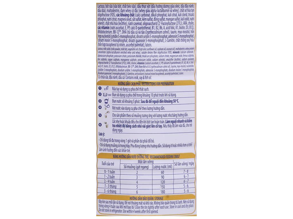 Sữa bột Optimum Gold 1 lon 400g (0 - 6 tháng) 4