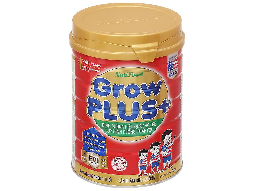 Sữa bột NutiFood Grow Plus+ lon 900g (trên 1 tuổi) 1