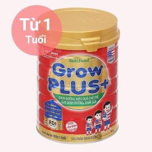 Sữa bột NutiFood Grow Plus+ lon 900g (trên 1 tuổi)