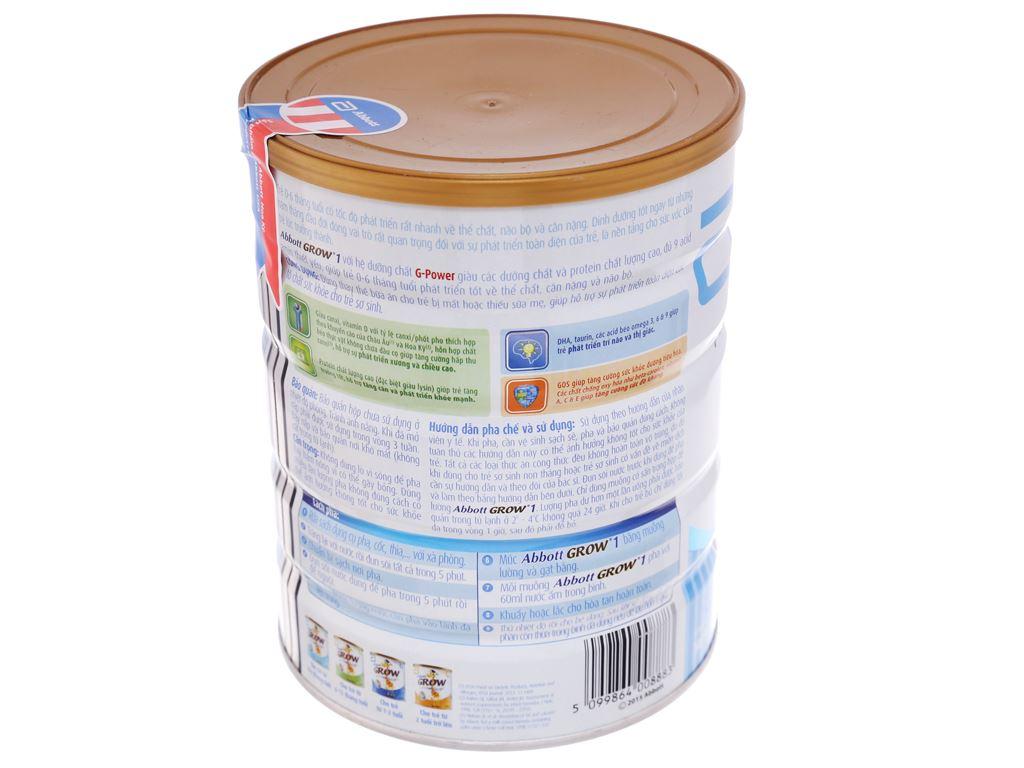 Sữa bột Abbott Grow 1 lon 900g (0 - 6 tháng) 4
