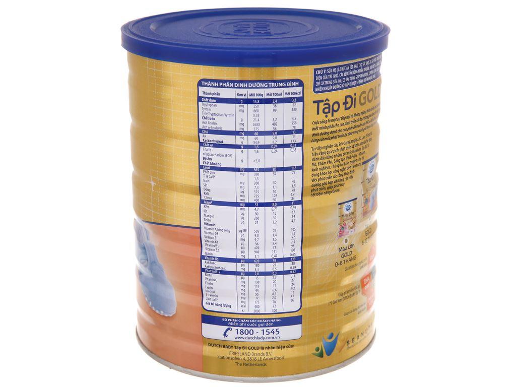 Sữa bột Dutch Baby Gold Tập Đi lon 900g (6 - 12 tháng) 3