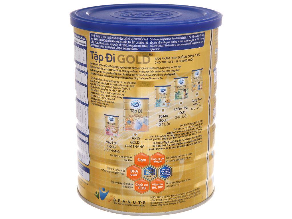 Sữa bột Dutch Baby Gold Tập Đi lon 900g (6 - 12 tháng) 4