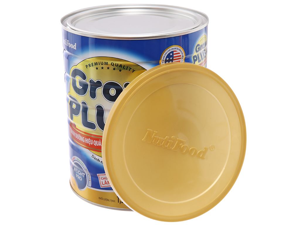 Sữa bột NutiFood Grow Plus+ tăng cân khoẻ mạnh lon 1.5kg (trên 1 tuổi) 4