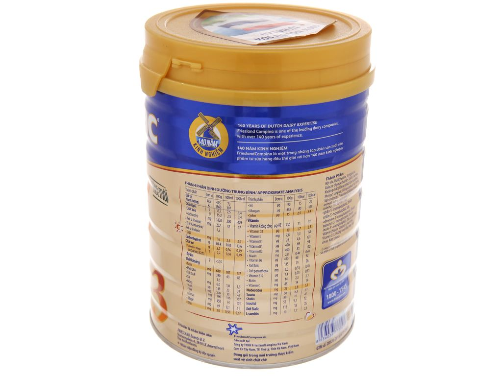 Sữa bột Frisolac Gold 3 lon 900g (1 - 2 tuổi) 3