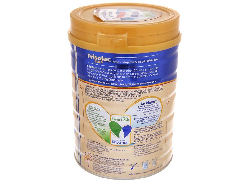 Sữa bột Frisolac Gold 3 lon 900g (1 - 2 tuổi) 4