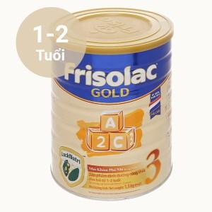 Sữa bột Frisolac Gold 3 vani lon 1.5kg (1 - 2 tuổi)