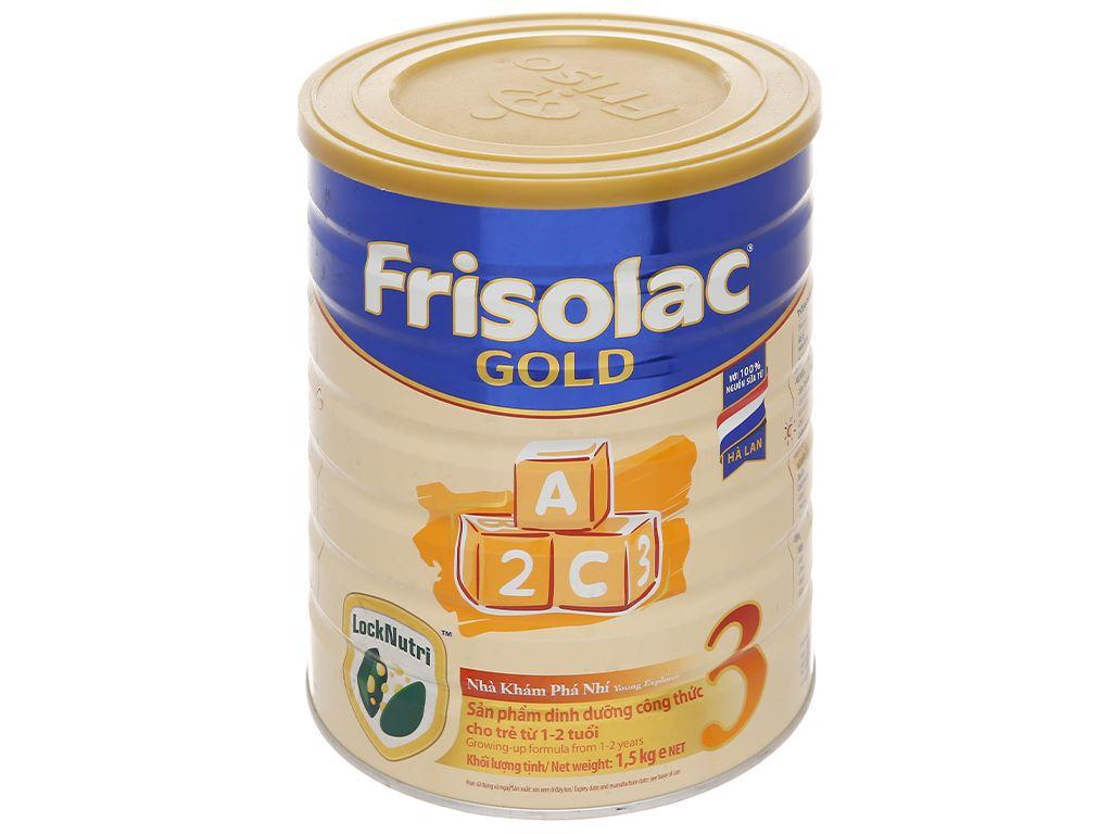 Sữa bột Frisolac Gold 3 vani lon 1.5kg (1 - 2 tuổi) 1