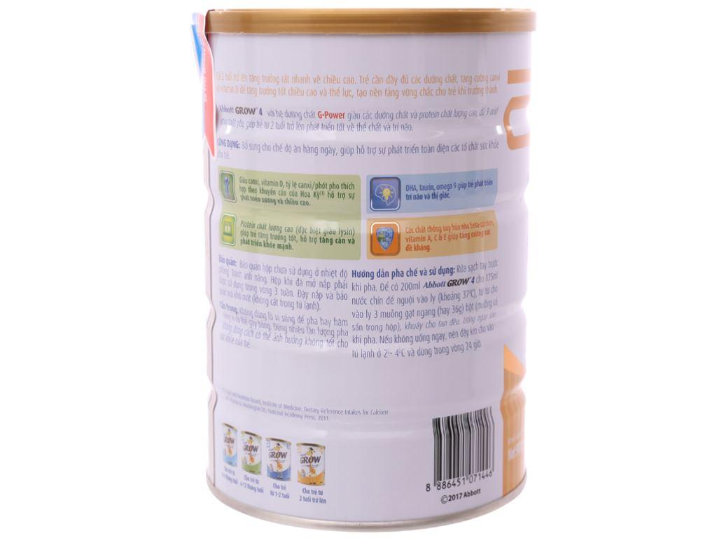 Sữa bột Abbott Grow 4 lon 900g (trên 2 tuổi) 3