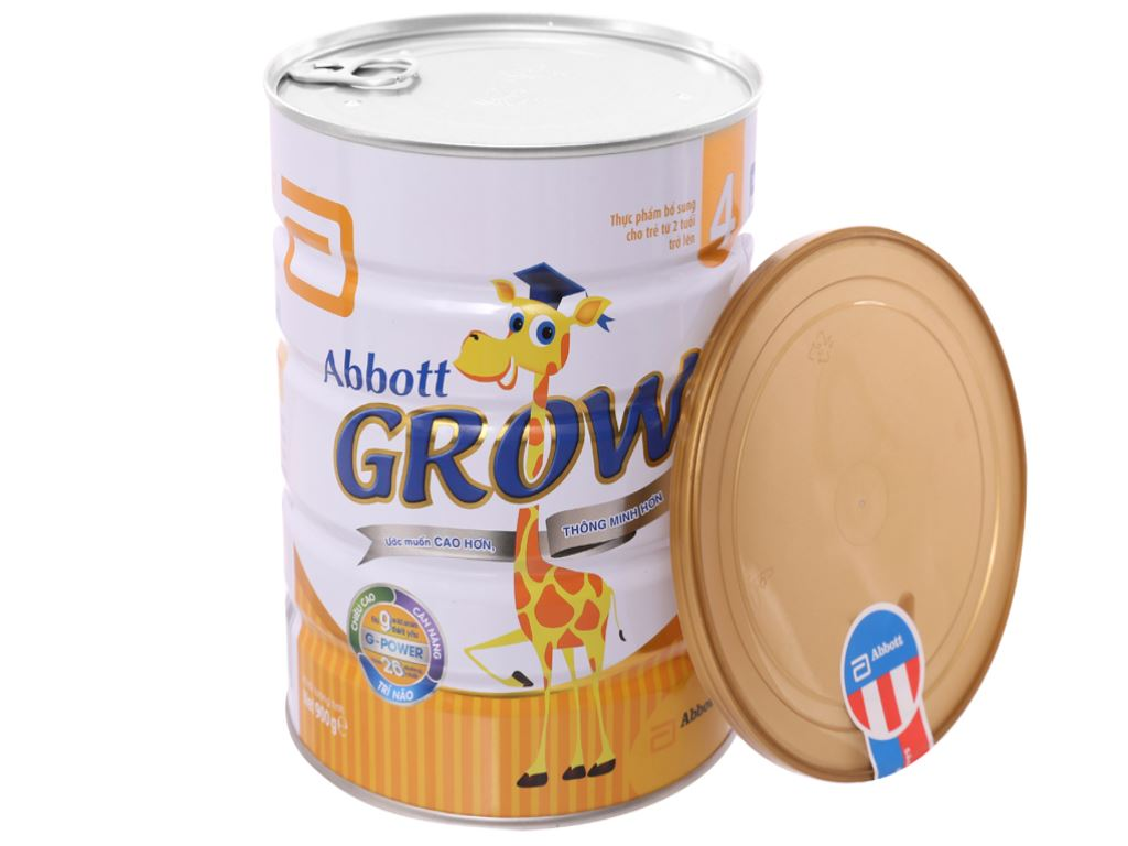 Sữa bột Abbott Grow 4 lon 900g (trên 2 tuổi) 4
