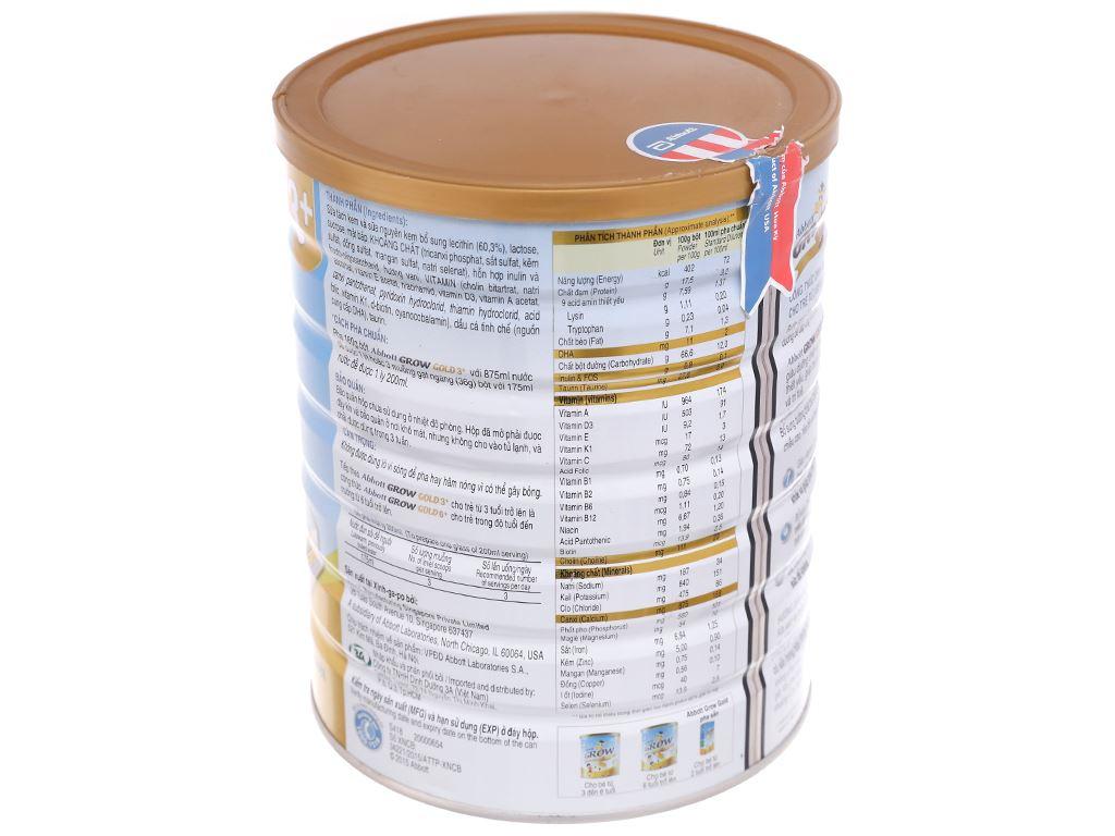 Sữa bột Abbott Grow Grow Gold 3+ hương vani lon 1.7kg (3 - 6 tuổi) 3