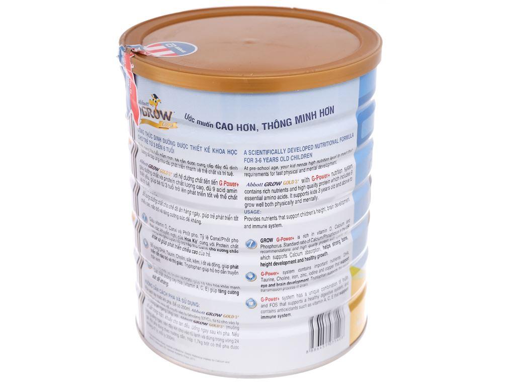 Sữa bột Abbott Grow Grow Gold 3+ hương vani lon 1.7kg (3 - 6 tuổi) 4