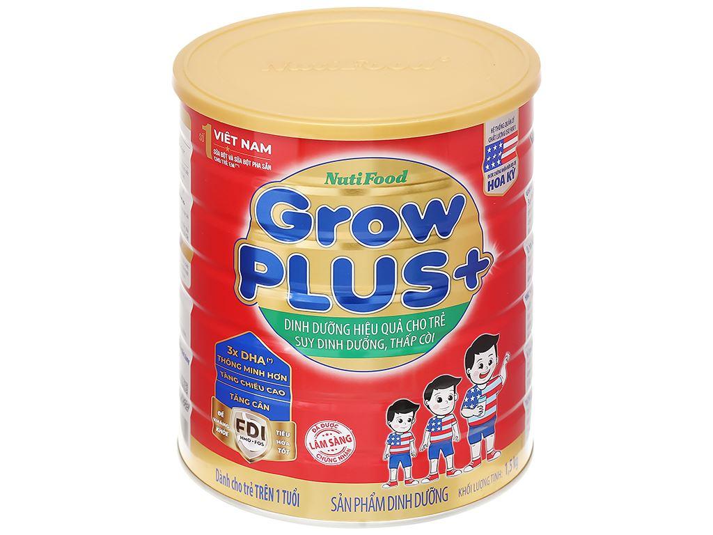 Sữa bột NutiFood Grow Plus+ lon 1.5kg (trên 1 tuổi) 1