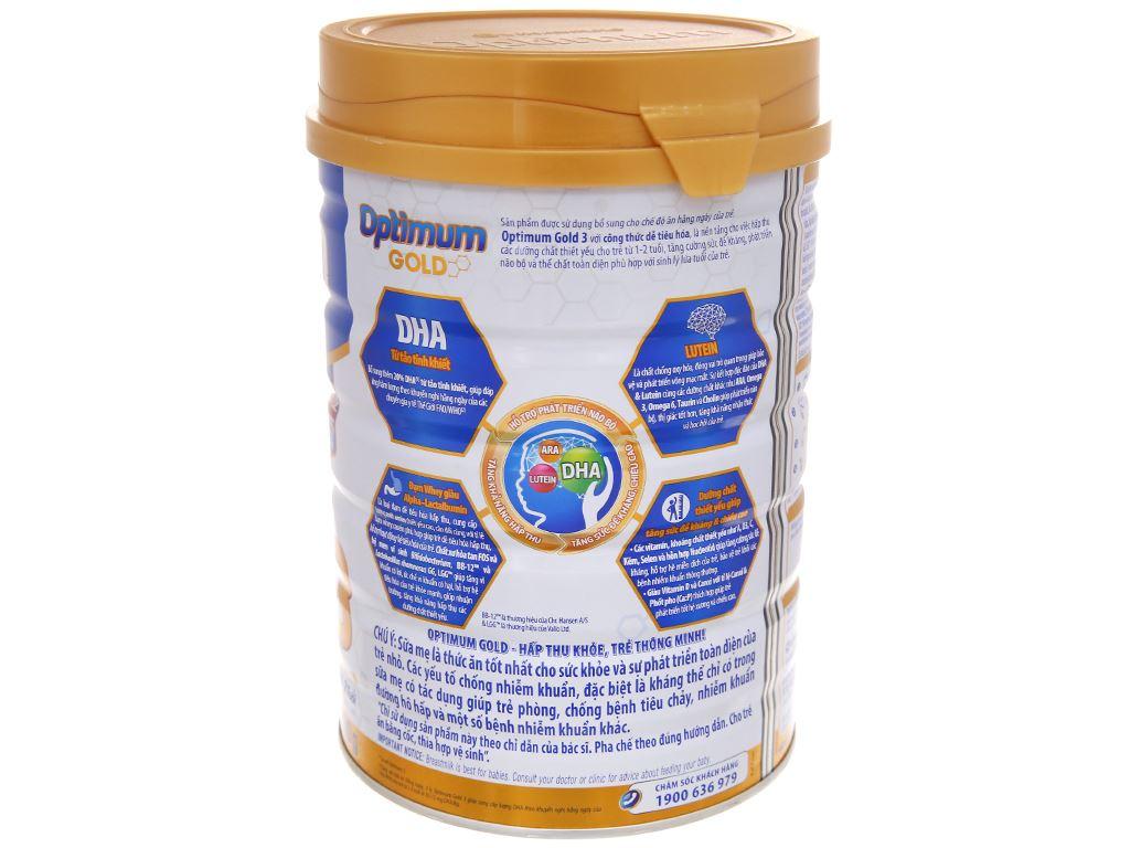 Sữa bột Optimum Gold 3 lon 900g (1 - 2 tuổi) 3