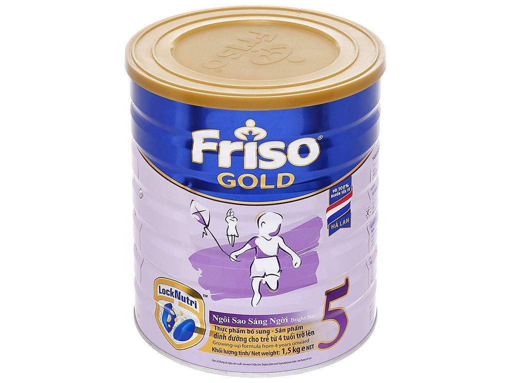 Sữa bột Friso Gold 5 hương vani lon 1.5kg (trên 4 tuổi) 1