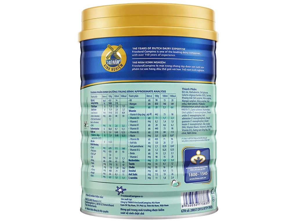 Sữa bột Friso Gold 4 hương vani lon 1.5kg (2 - 4 tuổi) 3