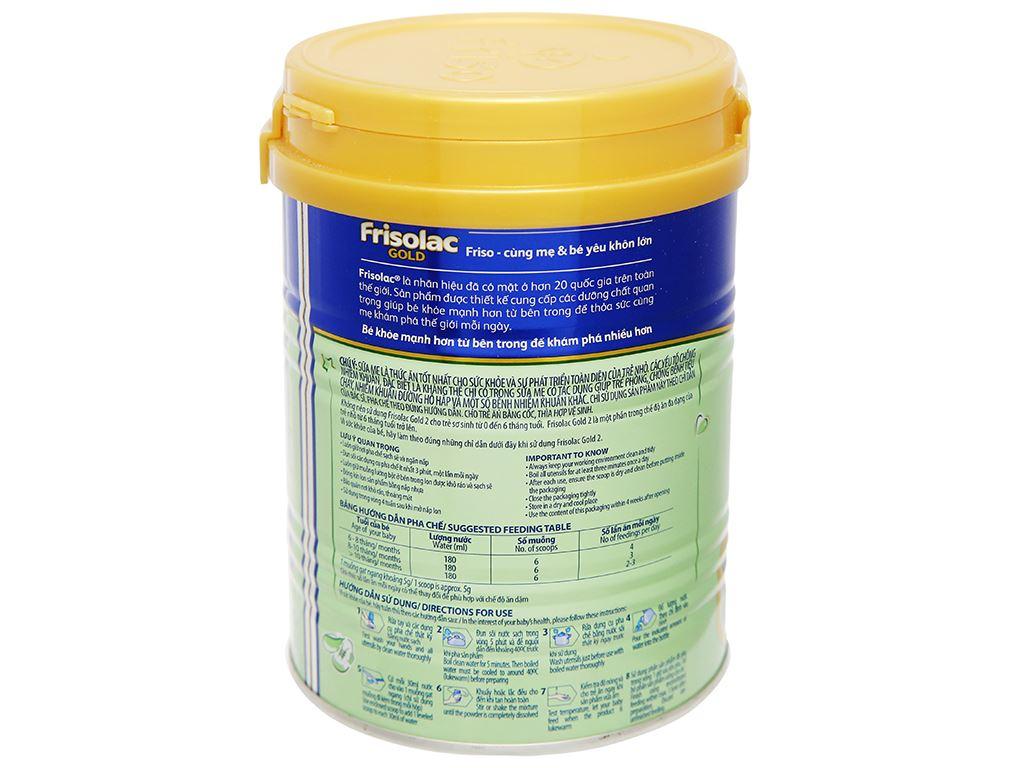 Sữa bột Frisolac Gold 2 lon 400g (6 - 12 tháng) 7