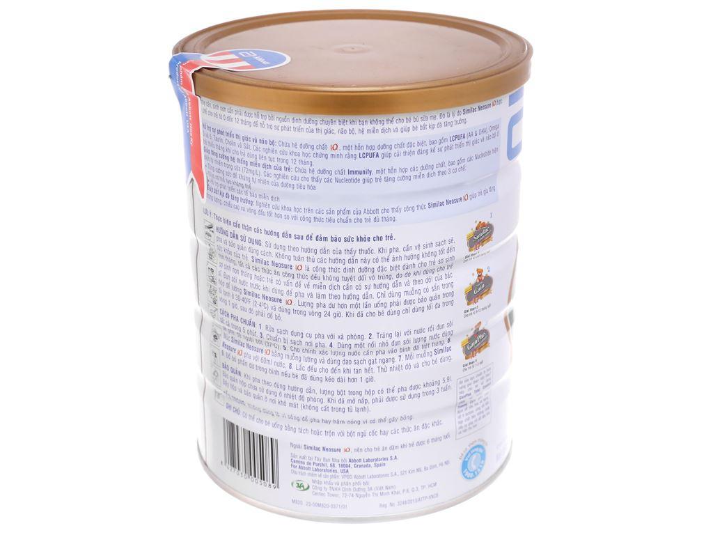 Sữa bột Abbott Similac Neosure Eye-Q 1 lon 850g (0 - 12 tháng) 4