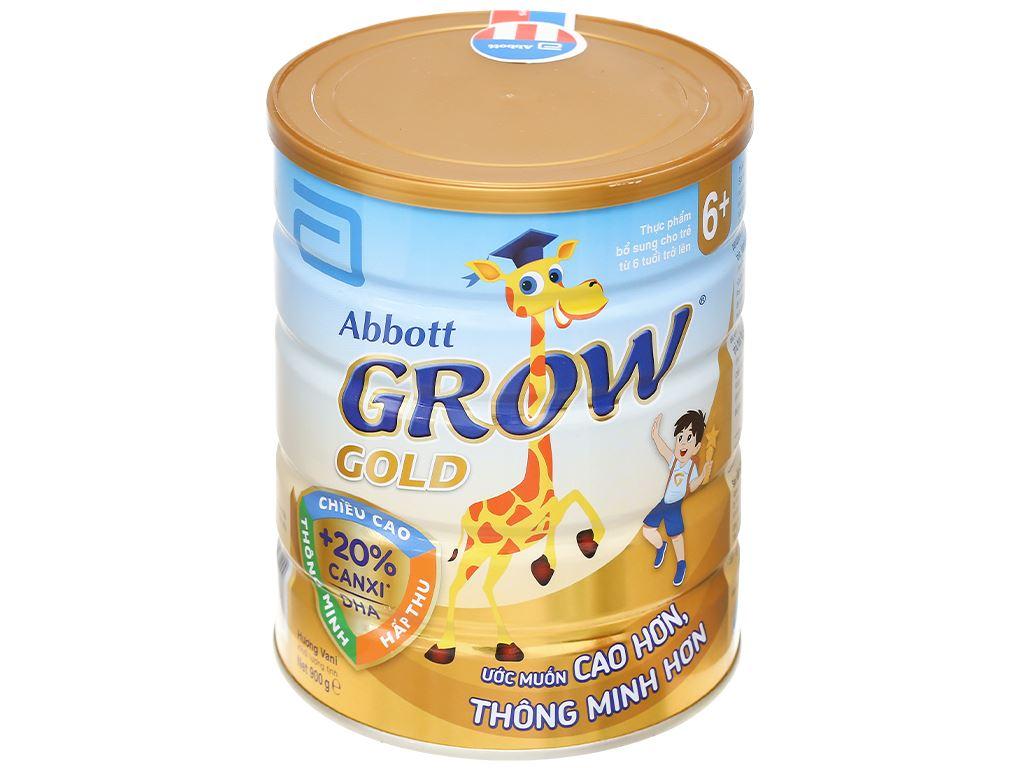 Sữa bột Abbott Grow Gold 6+ hương vani lon 900g (trên 6 tuổi) 1