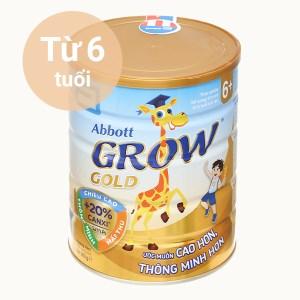 Sữa bột Abbott Grow Grow Gold 6+ hương vani lon 900g (trên 6 tuổi)