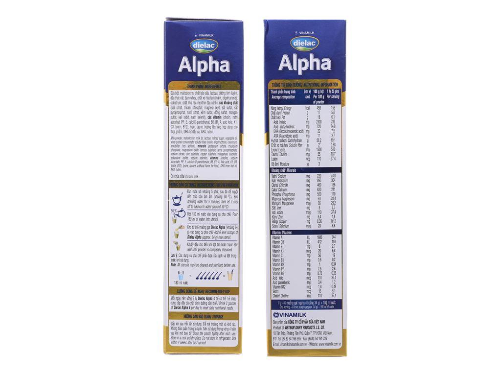 Sữa bột Dielac Alpha 4 hộp 400g (2 - 6 tuổi) 4