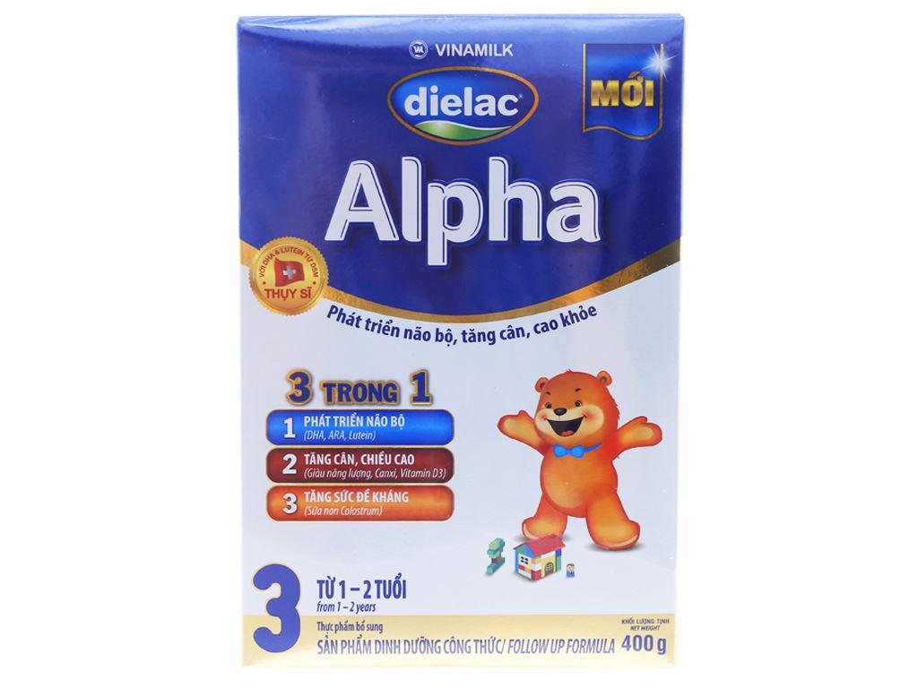 Sữa bột Dielac Alpha 3 hộp 400g (1 - 2 tuổi) 1