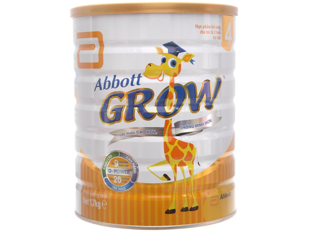 Sữa bột Abbott Grow 4 lon 1.7kg (trên 2 tuổi) 1