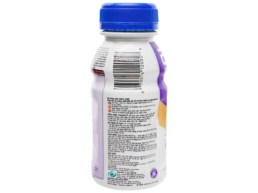 Sữa bột pha sẵn Abbott PediaSure socola 237ml 5