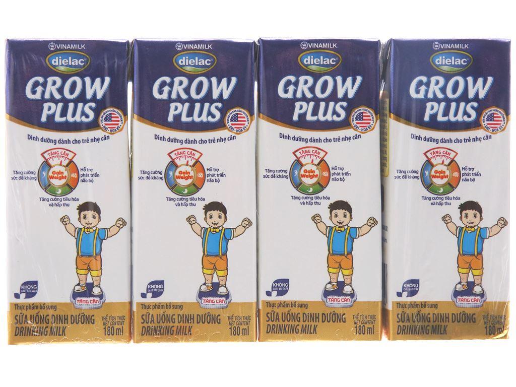 Lốc 4 hộp sữa uống dinh dưỡng Dielac Grow Plus hộp 180ml 1