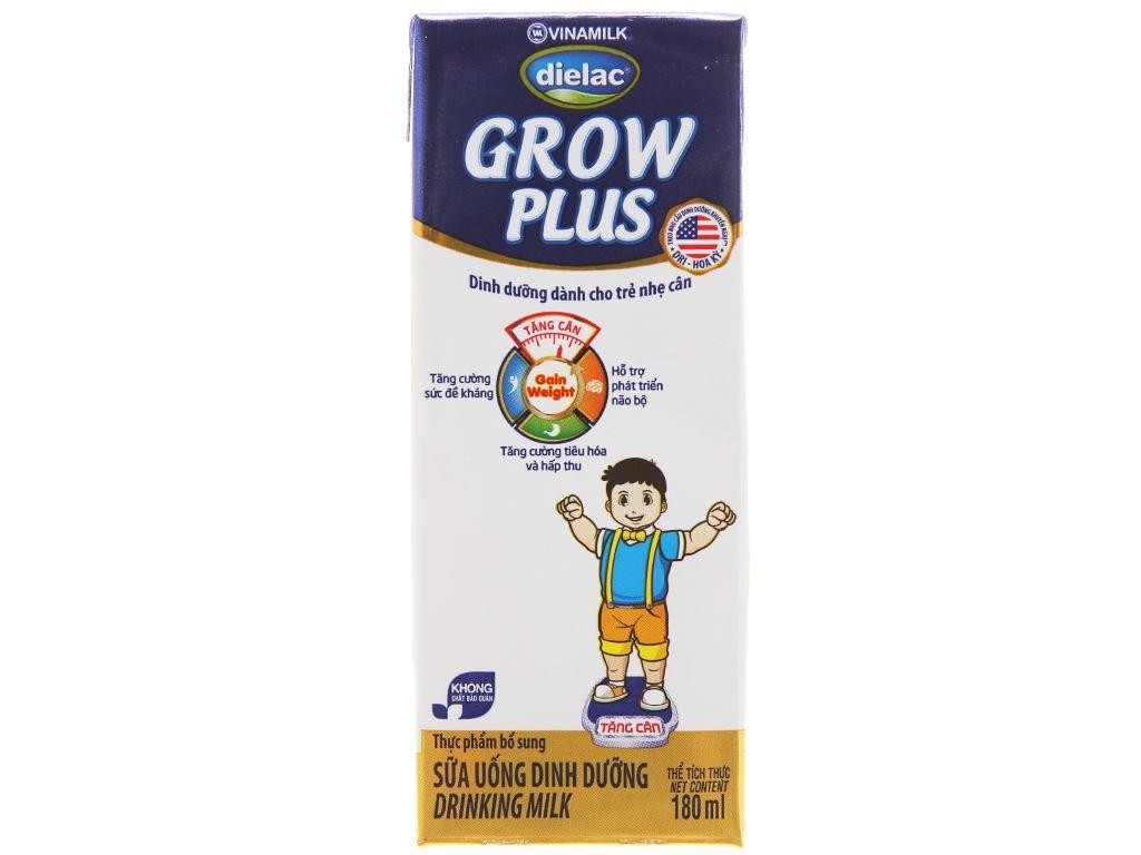 Lốc 4 hộp sữa uống dinh dưỡng Dielac Grow Plus hộp 180ml 3