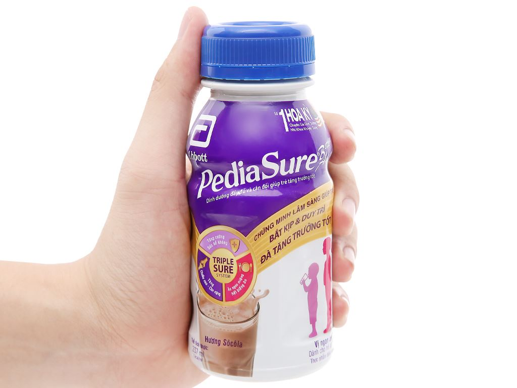 Thùng 24 chai sữa bột pha sẵn Abbott PediaSure socola chai 237ml 10