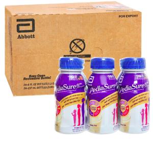 Thùng 24 chai sữa bột pha sẵn Abbott PediaSure vani chai 237ml