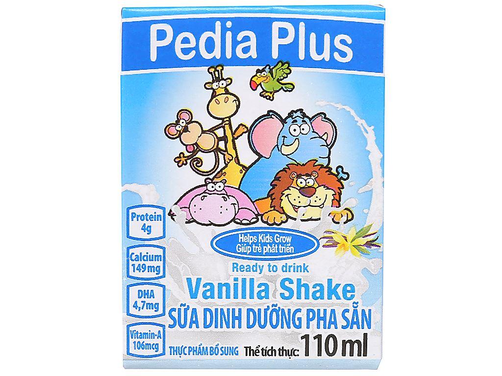 Lốc 3 hộp sữa dinh dưỡng pha sẵn NutiFood Pedia Plus vani hộp 110ml 2