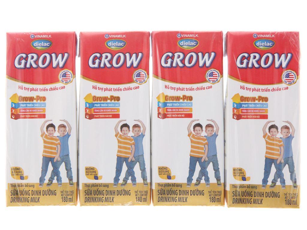 Lốc 4 hộp sữa uống dinh dưỡng Dielac Grow hộp 180ml 2