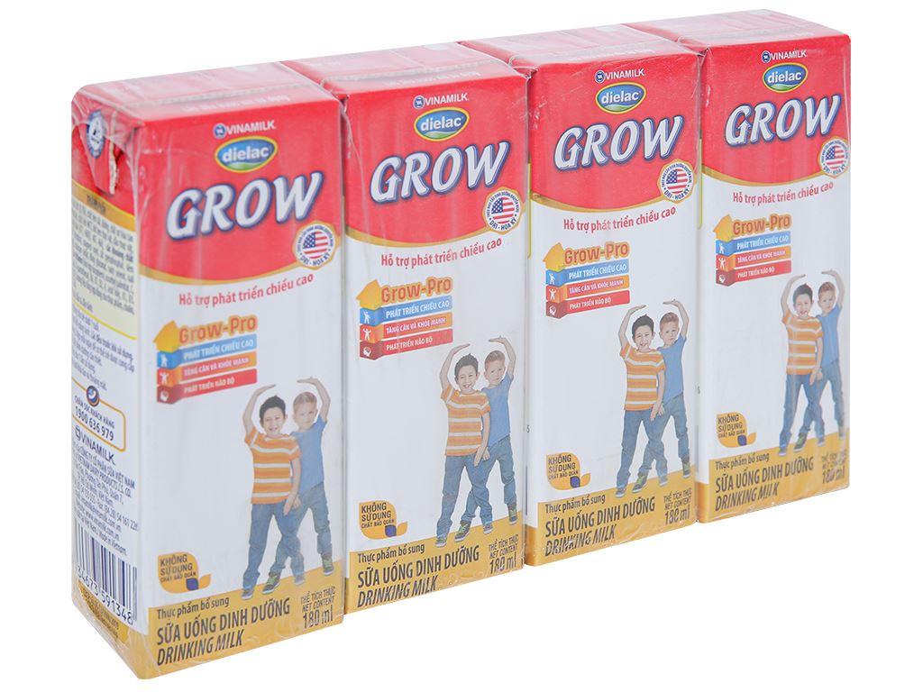 Lốc 4 hộp sữa uống dinh dưỡng Dielac Grow hộp 180ml 1