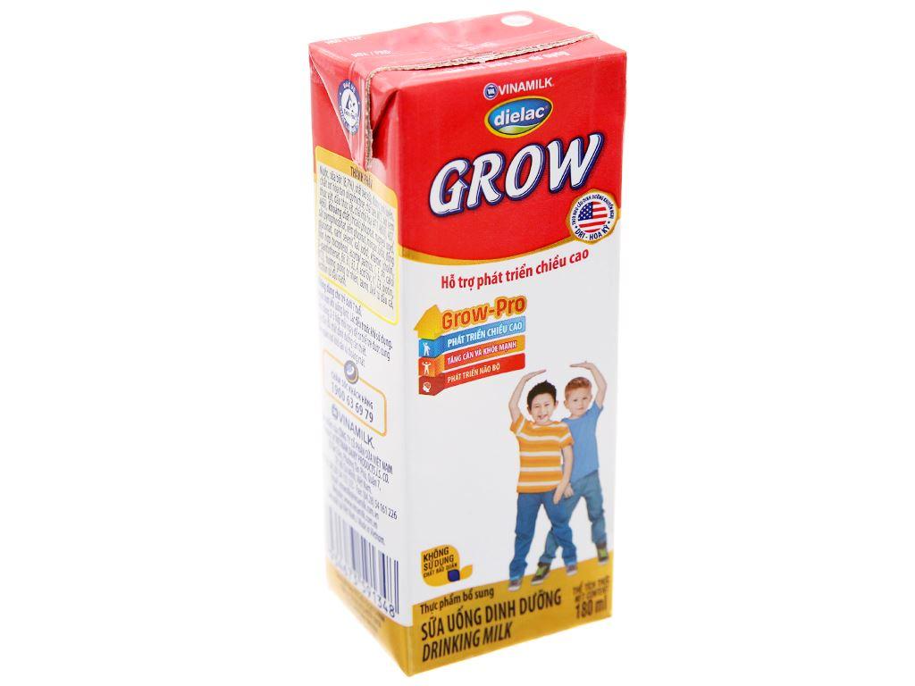 Lốc 4 hộp sữa uống dinh dưỡng Dielac Grow hộp 180ml 3