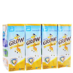 Lốc 4 hộp sữa bột pha sẵn Abbott Grow Gold vani hộp 180ml