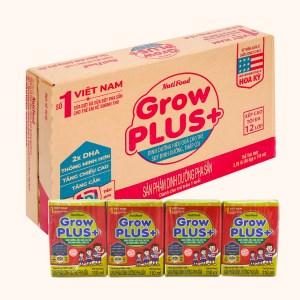 Thùng 48 hộp sữa dinh dưỡng pha sẵn NutiFood Grow Plus+ vani hộp 110ml