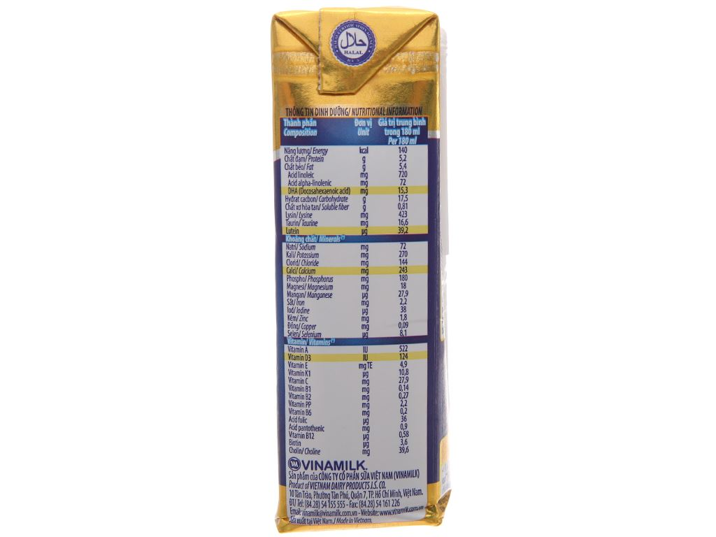 Thùng 48 hộp sữa bột pha sẵn Dielac Alpha Gold hộp 180ml 4