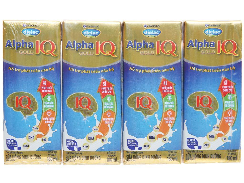 Thùng 48 hộp sữa bột pha sẵn Dielac Alpha Gold hộp 180ml 2