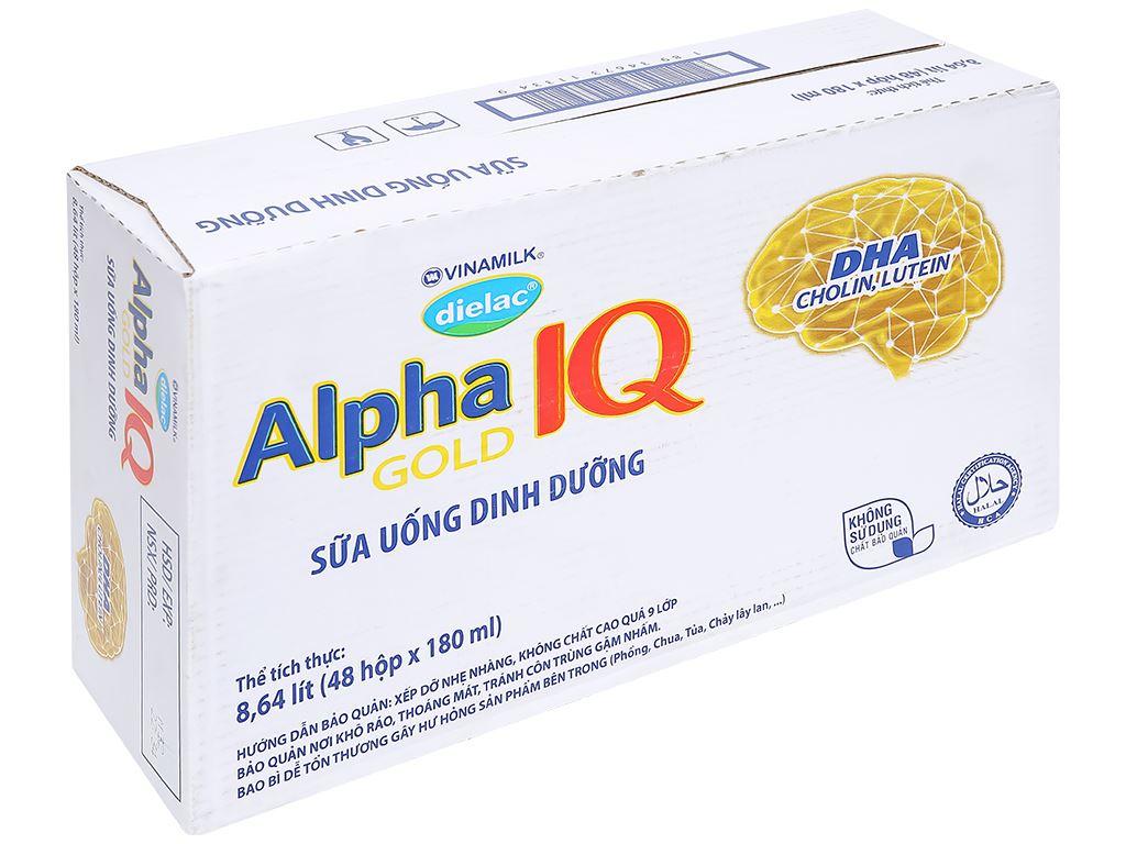 Thùng 48 hộp sữa bột pha sẵn Dielac Alpha Gold hộp 180ml 1