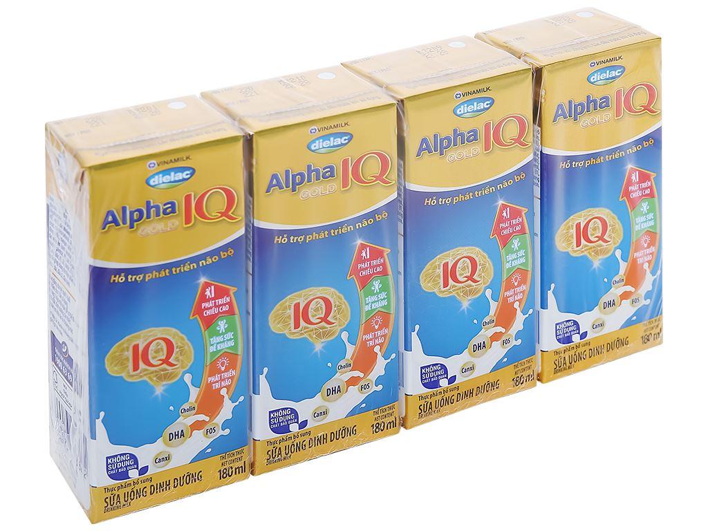 Thùng 48 hộp sữa bột pha sẵn Dielac Alpha Gold hộp 180ml 7