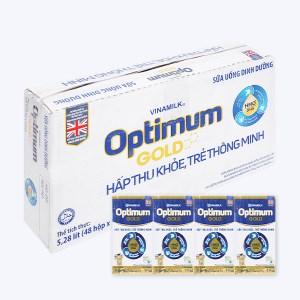 Thùng 48 hộp sữa uống dinh dưỡng Optimum Gold hộp 110ml