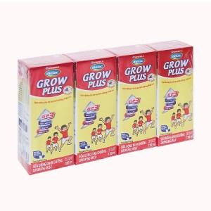 Lốc 4 hộp sữa uống dinh dưỡng Dielac Grow Plus hộp 180ml (cho trẻ thấp còi)